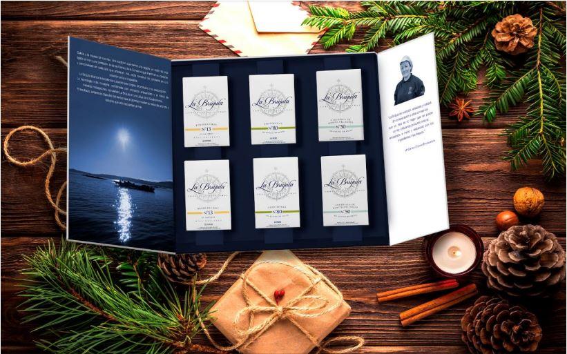 Lujoso estuche regalo de conservas la br jula 6 latas - Conservas la brujula ...